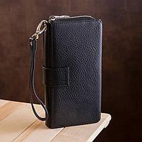Чоловічий гаманець ST Leather 19953 (ST128) стильний Чорний, фото 7