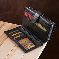 Чоловічий гаманець ST Leather 19953 (ST128) стильний Чорний, фото 8