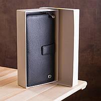 Чоловічий гаманець ST Leather 19953 (ST128) стильний Чорний, фото 9