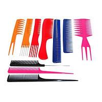 Набір гребенів для волосся YRE ТН-110-5 (10шт) кольорові