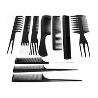 Набір гребенів для волосся YRE ТН-110 (10шт) чорні