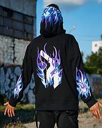 Худі оверсайз Гармата Вогонь Flame 2.0 чорне