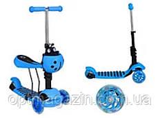 Самокат baby scooter c сидением 3 в 1 (божья коровка), фото 2