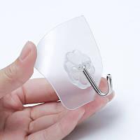 Крючки на липучке Tuty M6-8 для кухни или ванны, Прозрачный (8шт.)