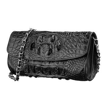Сумка клатч CROCODILE LEATHER 18243 з натуральної шкіри крокодила Коричневий, Коричневий