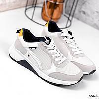 Кросівки чоловічі Kieran світло сірі + білий 3506