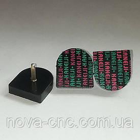 """Набойки на металлическом штыре """"Kaneiji"""" черные, 24mm x 25mm высота 20 мм"""