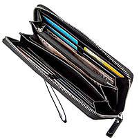 Вместительное мужское портмоне-клатч Boston 31806 Черный, фото 3