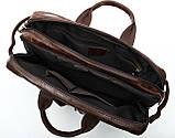 Сумка – трансформер кожаная Vintage 14844 Коричневая, фото 3
