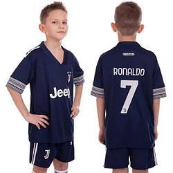Детская футбольная форма Ювентус Ronaldo выезд 2020-21