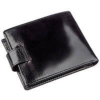 Якісний шкіряний гаманець для чоловіків Boston 18859 Чорний, фото 2