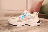 Стильные женские кроссовки сетка белого цвета. 36-41, фото 4
