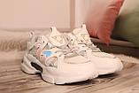 Стильные женские кроссовки сетка белого цвета. 36-41, фото 3
