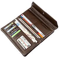 Практичний жіночий гаманець-клатч ST Leather 18833 Коричневий, фото 3