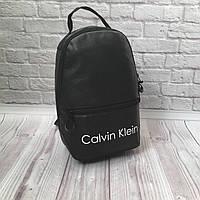 Женский рюкзак мини- II Calvin Klein с экокожи, модный городской рюкзачок для девушек.