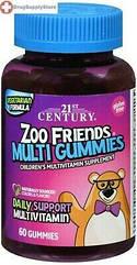 21st Century Zoo Friends Multi Gummies, Дитячі вітаміни (60 шт.)