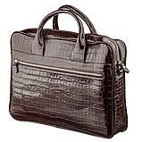 Портфель мужской KARYA 17363 кожаный Коричневый, фото 2