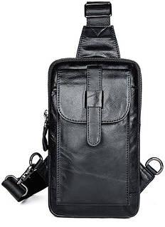 Сумка мужская через плечо Vintage 14957 Черная, Черный