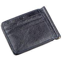 Кожаный зажим для мужчин ST Leather 12142 Синий, фото 2