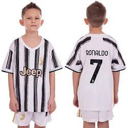 Детская футбольная форма Ювентус Ronaldo основная сезон 20-21