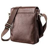 Мужская кожаная сумка SHVIGEL 19101 Коричневая, фото 2
