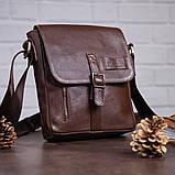 Мужская кожаная сумка SHVIGEL 19101 Коричневая, фото 5