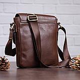 Мужская кожаная сумка SHVIGEL 19101 Коричневая, фото 6