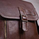 Мужская кожаная сумка SHVIGEL 19101 Коричневая, фото 7