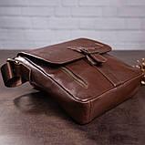 Мужская кожаная сумка SHVIGEL 19101 Коричневая, фото 8