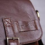 Мужская кожаная сумка SHVIGEL 19101 Коричневая, фото 10
