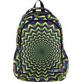 Рюкзак школьный ST.RIGHT BP-57 HIPNOSIS 45x30x20 см 25 л Разноцветный