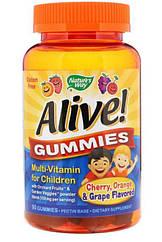Nature's Way Alive! Gummies Multi-Vitamin for Children, Дитячі вітаміни (90 шт.)