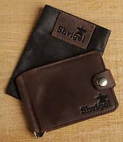 Зажим для купюр SHVIGEL 13742 Коричневый, фото 7