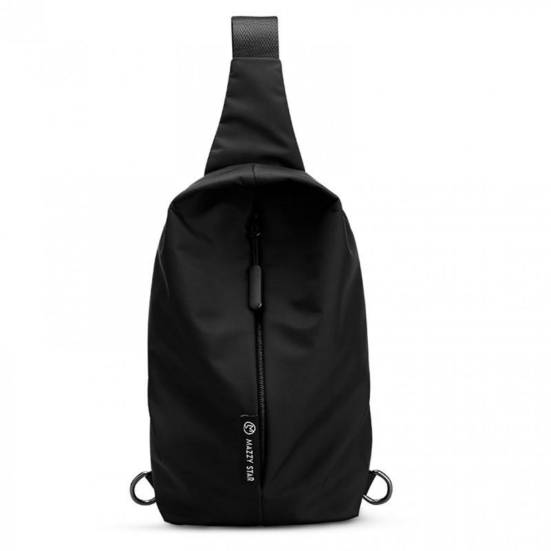 Практичний стильний рюкзак чорного кольору на одне плече Mazzy Star з відділенням для планшета Чоловічий рюкзак