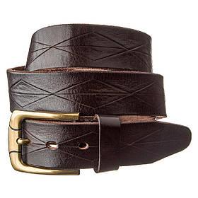 Ремінь шкіряний Vintage 20132 Темно-коричневий