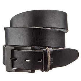 Ремінь з масивною пряжкою Vintage 20127 Чорний