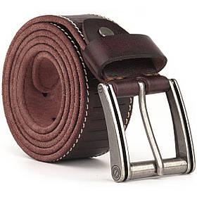 Ремінь з тисненням Vintage 20129 Темно-коричневий