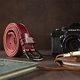 Ремень женский Vintage 20124 Бордовый, фото 5