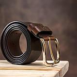 Ремень мужской джинсовый Grande Pelle 11267 Коричневый, фото 5