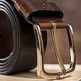 Ремень мужской джинсовый Grande Pelle 11267 Коричневый, фото 6