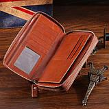 Мужской клатч Vintage 14192 Коричневый, фото 7