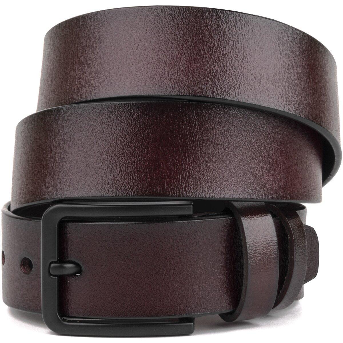 Мужской кожаный ремень Vintage 20221 Коричневый