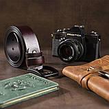 Мужской кожаный ремень Vintage 20221 Коричневый, фото 4