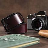 Мужской кожаный ремень Vintage 20221 Коричневый, фото 5
