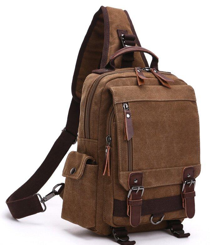 Сумка-рюкзак на одно плечо Vintage 20142 Коричневая