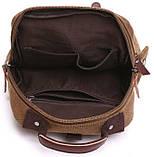 Сумка-рюкзак на одно плечо Vintage 20142 Коричневая, фото 2