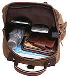 Сумка-рюкзак на одно плечо Vintage 20142 Коричневая, фото 3