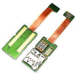 Шлейф Nokia E65 c коннектором SIM-карты и карты памяти Original