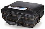 Сумка мужская Vintage 14218 для ноутбука Черная, фото 6