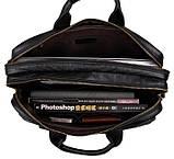 Сумка мужская Vintage 14218 для ноутбука Черная, фото 9